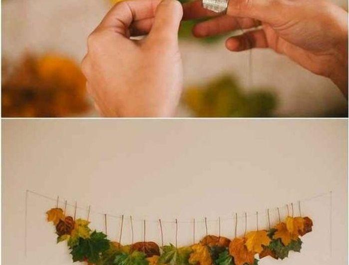 0-guirlande-en-fuilles-oranges-diy-idee-comment-fabriquer-une-deco-murale-en-feuilles-oranges