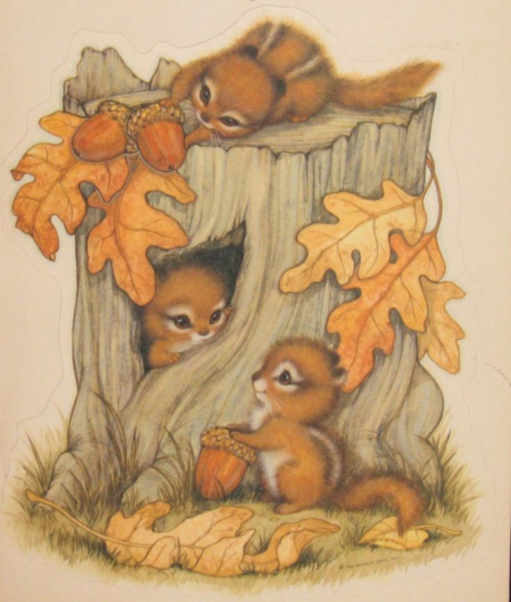 Cute Vintage Hallmark Fall Die Cut                                                                                                                                                      More