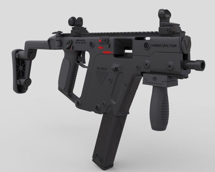 3d model kriss vector smg gun