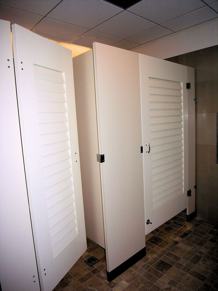 1000 images about toilet partitions and doors on pinterest for Louvered bathroom stall doors