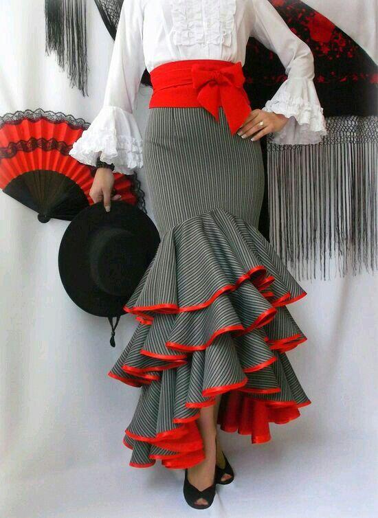 Salsa skirt 3tiers bulk why red