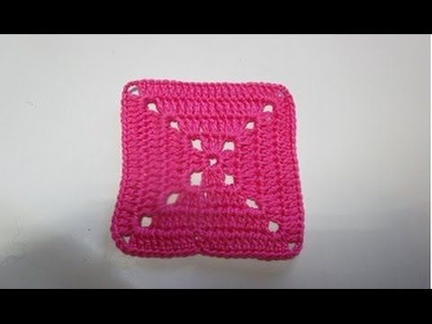 Crochet  Square  Free Pattern How to crochet a solid granny square for b...