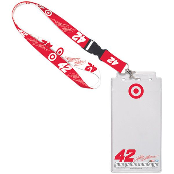 Juan Pablo Montoya 2013 Credential Holder with Lanyard - Red/White