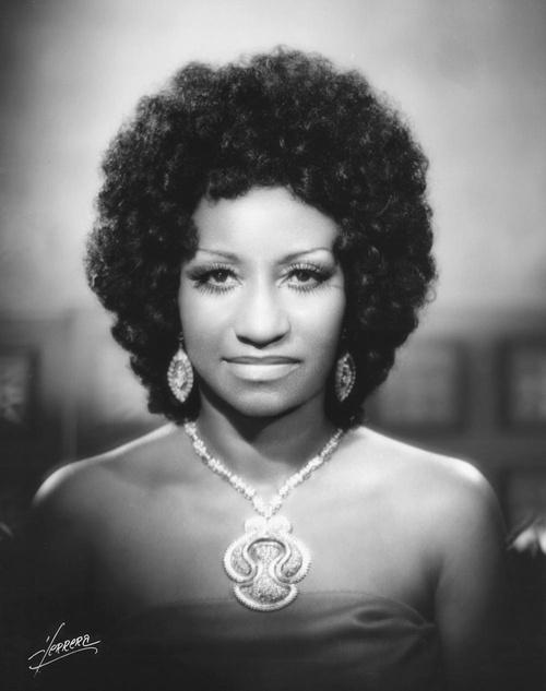 Celia Cruz [1925-2003] ♫♪♫ Úrsula Hilaria Celia de la Caridad Cruz Alfonso de la Santísima Trinidad was a Cuban-American salsa performer.