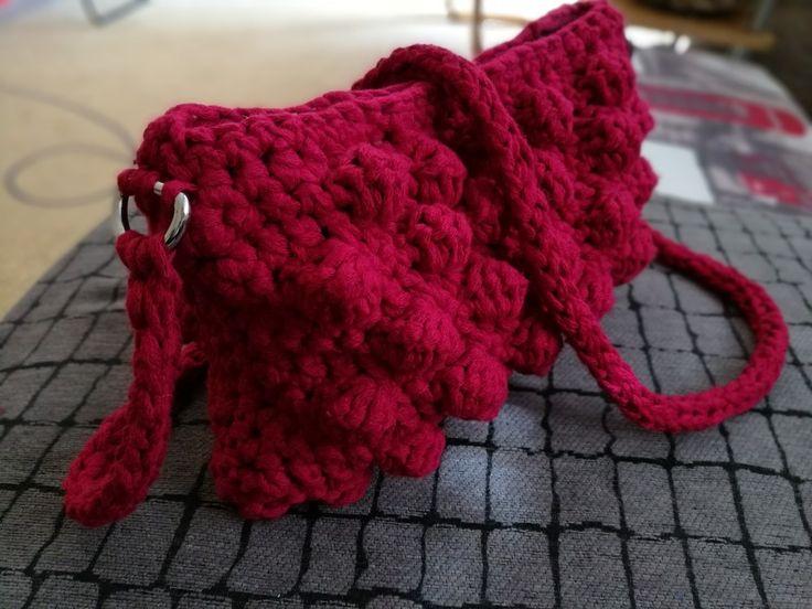 Crochet bobble bag