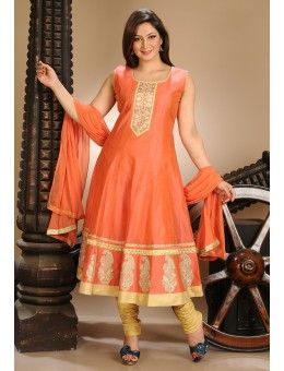 Orange Color Anarkali Suit