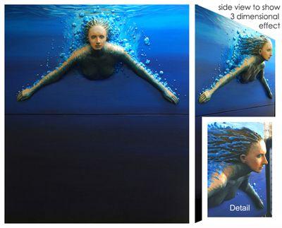 Underwater Diver #3D #Casting #Art