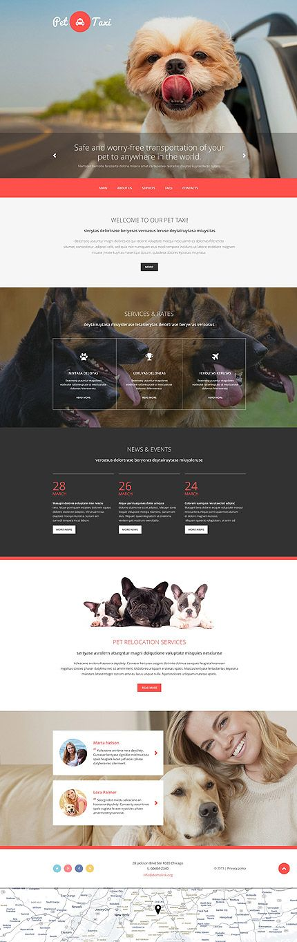 Pet Taxi Services, web design