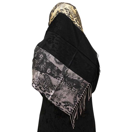 Nude Gray Hijab Animal Floral & Paisley Scarf | HJ112