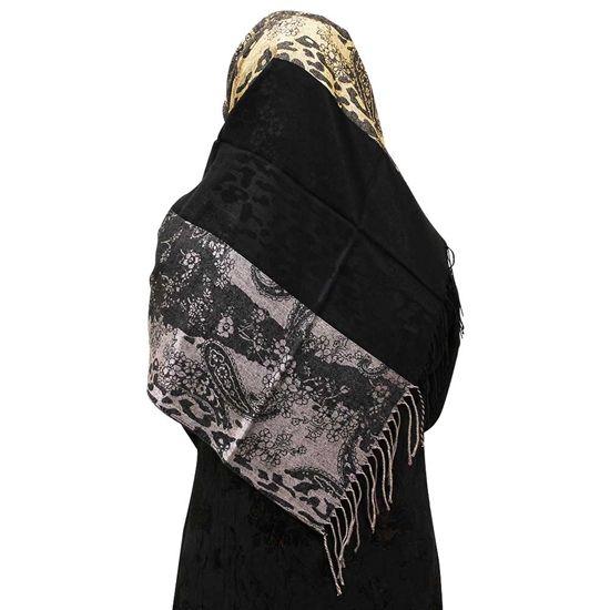 Nude Gray Hijab Animal Floral & Paisley Scarf   HJ112