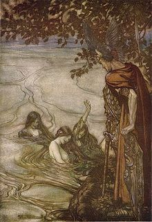 The Nyx/Nixie (German: Nix/Nixie/Nyx, Norwegian: Nøkk or plural: Nøkken) are shapeshifting water spirits who usually appear in human form. These spirits have appeared in the myths and legends of all Germanic peoples in Europe.,[1] Although perhaps most known in norwegian and scandinavian folklore