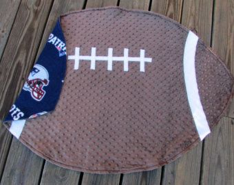 Patriots Football, Baby Blanket, Sports Nursery Decor, Baby Shower Gift, Personalized Crib Bedding, Father's Day, New England Patriot