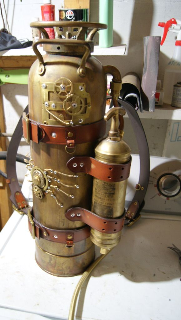 Steampunk Armor | Steampunk Armour WIP. That looks like it would be heavy, even if the tank is empty.