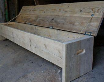 The original future rustic bench Storage box