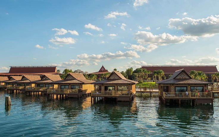 Bora Bora Bungalows at Disney's Polynesian Village Resort | The wildest theme park hotel rooms from around the globe include live giraffes outside your window, princess accommodations and even a luxury boutique hotel within one of the world's oldest amusement parks.