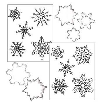 Snowflake Cookie Cutter Texture Set Professional-looking cookies decorated in minutes! Use these texture sheets with freshly rolled fondant or crusted buttercream.