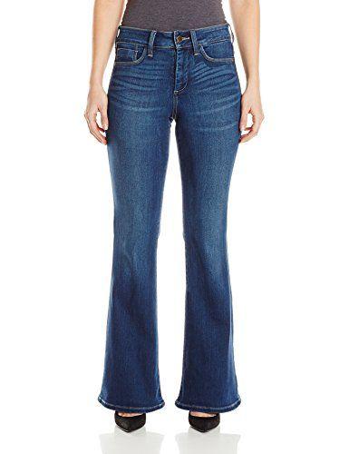 NYDJ Women's Petite Farrah Flare Jeans, Echo Valley, 6 Petite