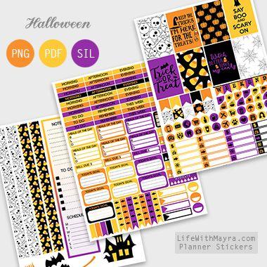 Halloween Planner Stickers FREE download
