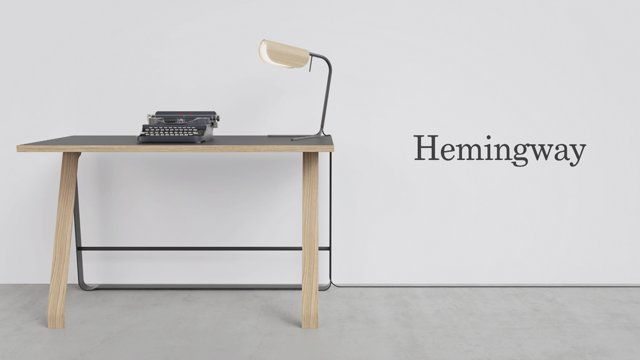 The desk Hemingway has a built-in wireless Qi charger for your smartphone. Simply place your phone in the upper left corner of the desk, and your phone will start charging, completely wireless. Many smartphones support Qi charging, other phones simply need a cover. Learn more at www.benthansen.net.