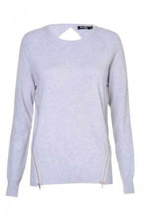 Trina Twin Zip Pullover in Grey