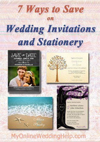 Wedding Invitation ideas ... 7 Ways to Save. Links to a lot of different inexpensive wedding invite and save the date designs, too. | #MyOnlineWeddingHelp MyOnlineWeddingHel...