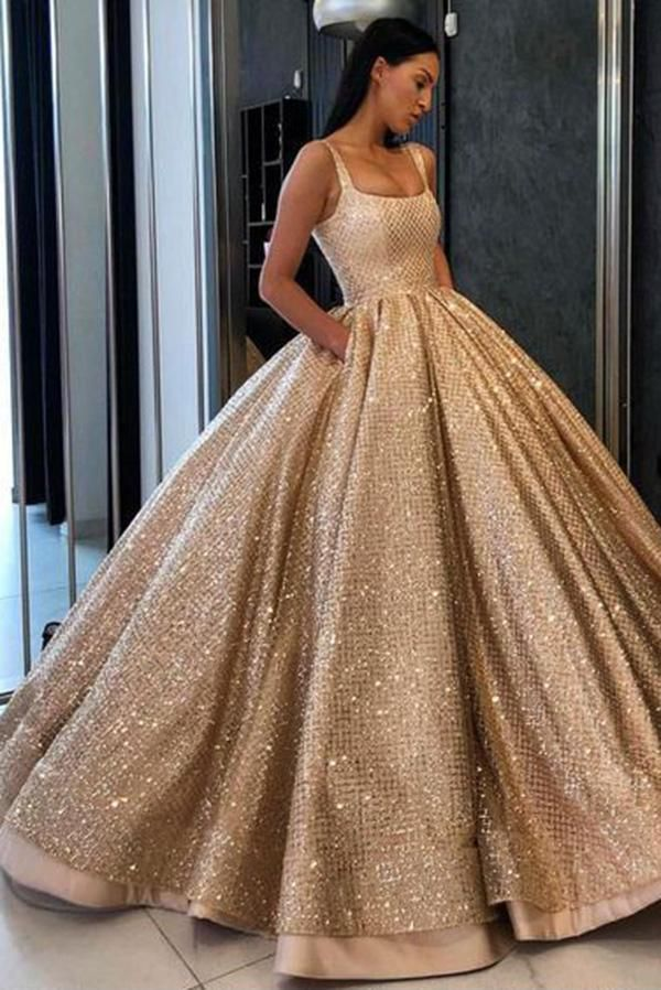 1c98e5471e4a Buy Ball Gown Prom Dress with Pockets Beads Sequins Floor-Length Gold  Quinceanera Dresses PH724 in uk.Shop our beautiful collection of unique and  ...