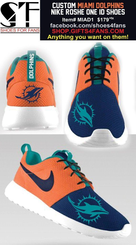MIAMI DOLPHINS NIKE ROSHE ONE SHOES