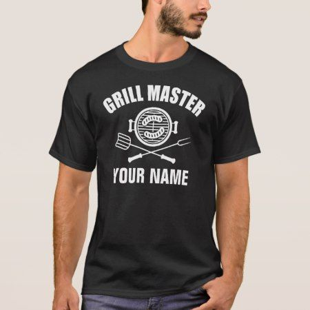 personalized name grill master T-Shirt - click/tap to personalize and buy