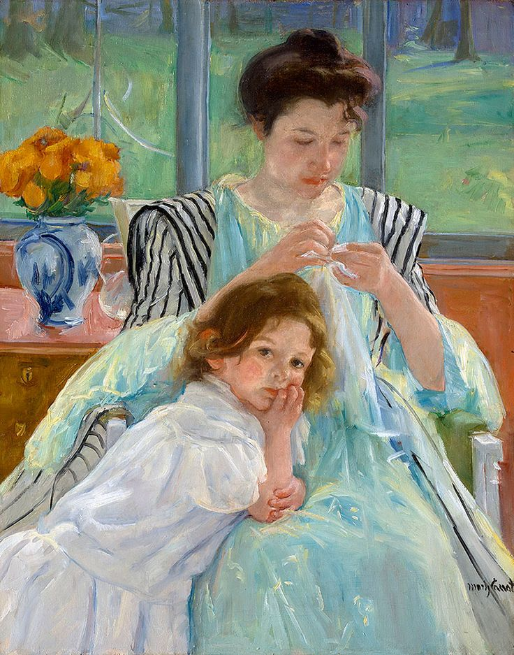 "Cassatt Mary - Young Mother Sewing 1900  (from <a href=""http://www.oldpainters.org/picture.php?/51015/category/16491""></a>)"