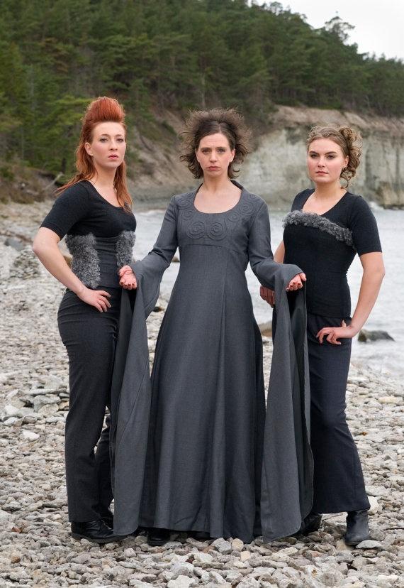 Viking Wedding dress Freja. Unique High Fashion Viking