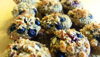 muffins bananes bleuets noix et curcuma sans gluten