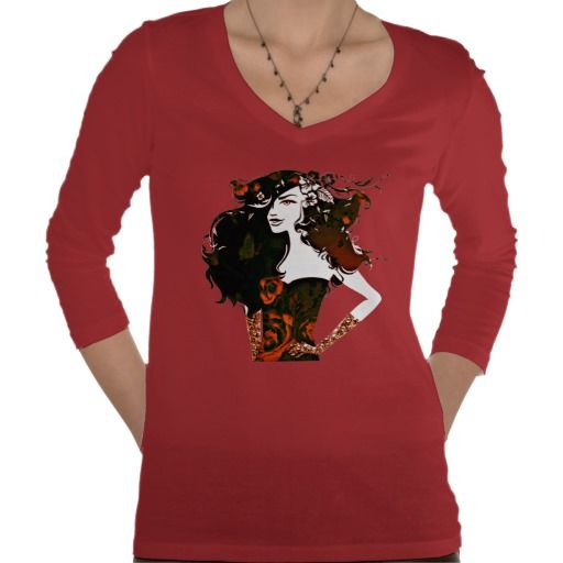 girl power_burnt orange #fashion #t-shirts