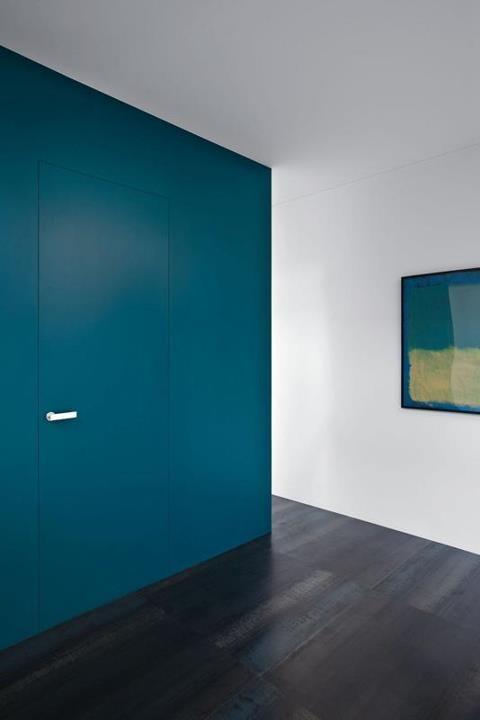 Rasomuro : Laqué céruléen mat  #door  #indoor  #porte