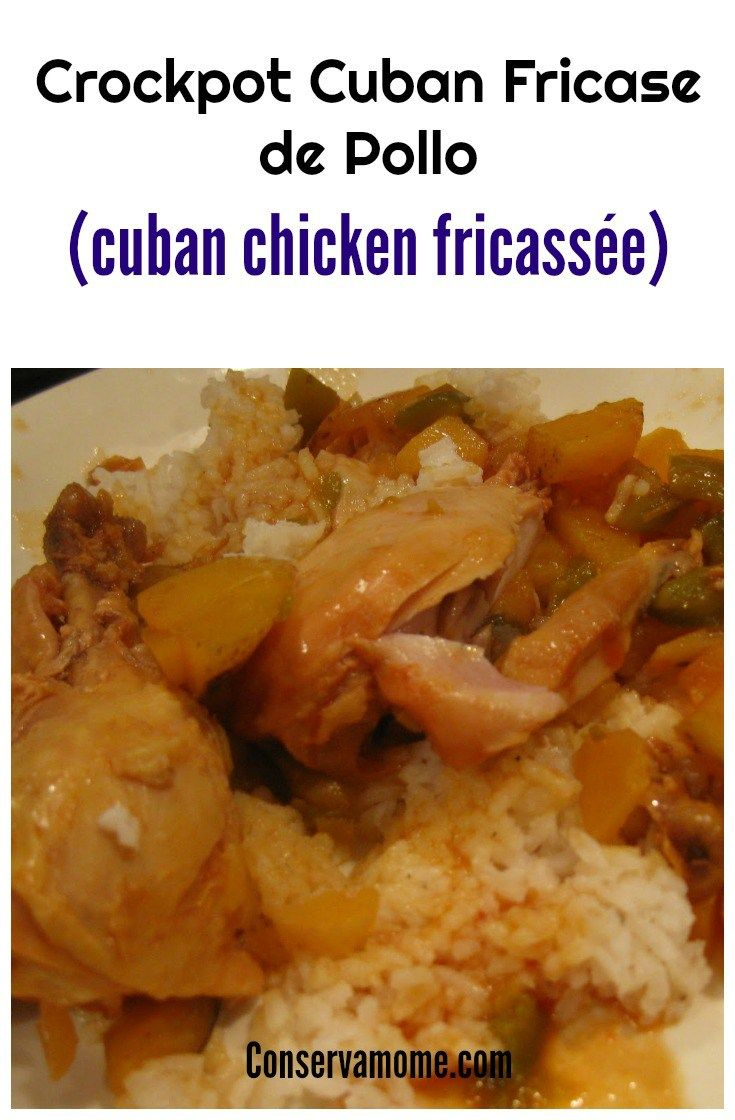 This easy and delicious Crockpot Cuban Fricase de Pollo (Cuban Chicken Fricassée) is perfection for any meal! This is an easy chicken recipe.