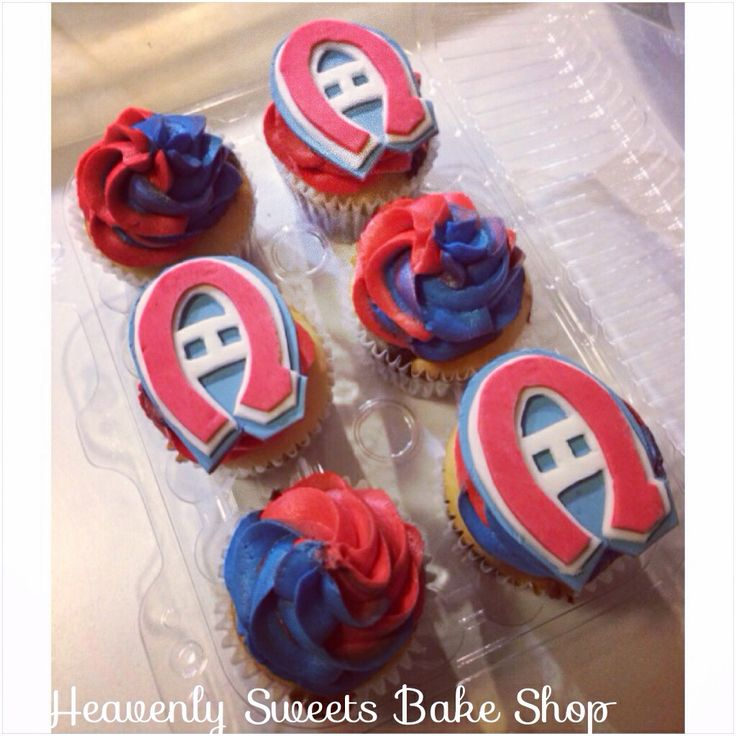 Montreal Canadiens cupcakes by Heavenly Sweets!