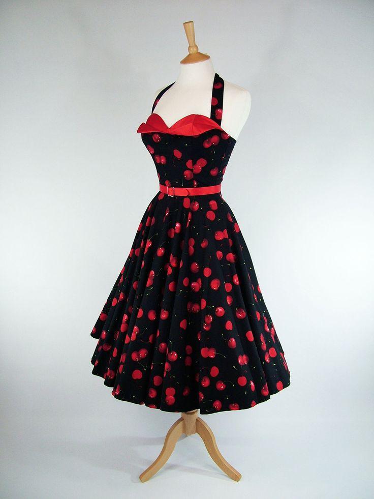 Made To Measure Petal Bust Full Circle Dress - Detachable Straps & Belt.