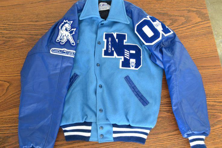 Vintage Varsity Letterman's Jacket- Blue