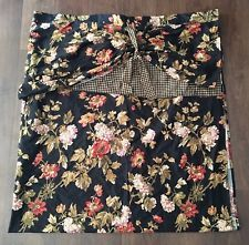 WAVERLY HARBOR SQUARE FABRIC SHOWER CURTAIN WITH VALANCE CABIN GINGHAM FLORAL