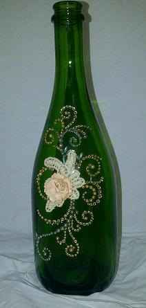 Repurposed Wine Bottle Vase by kraftymckrafterson on Etsy, $16.00