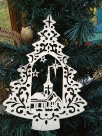 laser cut wooden christmas decoration - Daisymoon Designs