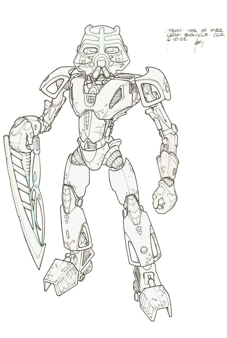 Tahu toa of fire by hk 887 on deviantart bionicle hero - Coloriage hero factory ...