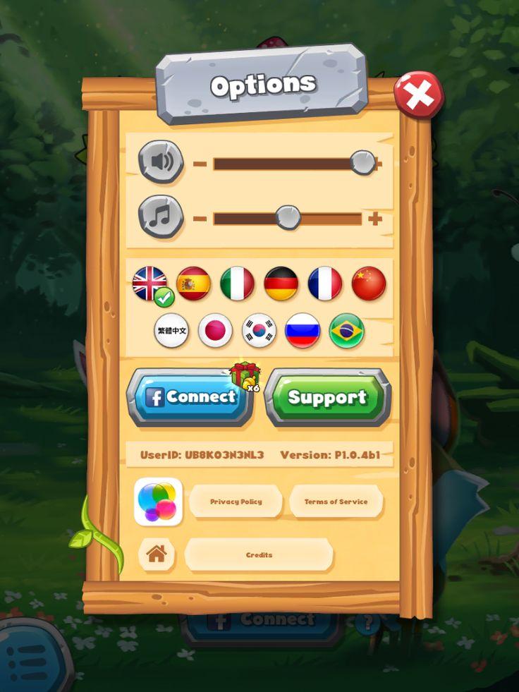 Forest Home | Settings| UI, HUD, User Interface, Game Art, GUI, iOS, Apps, Games, Grahic Desgin, Puzzle Game, Maze Games, Brain Games | www.girlvsgui.com
