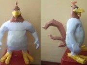 Foghorn Leghorn (Gallo Claudio) Free Papercraft Download