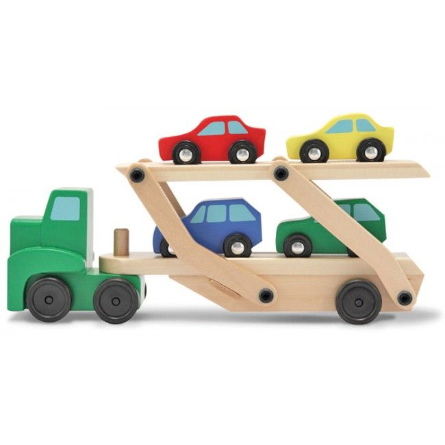 Melissa & Doug - Wooden Toy Car Carrier   Two car mad little boys would love this! #entropywishlist #pintowin