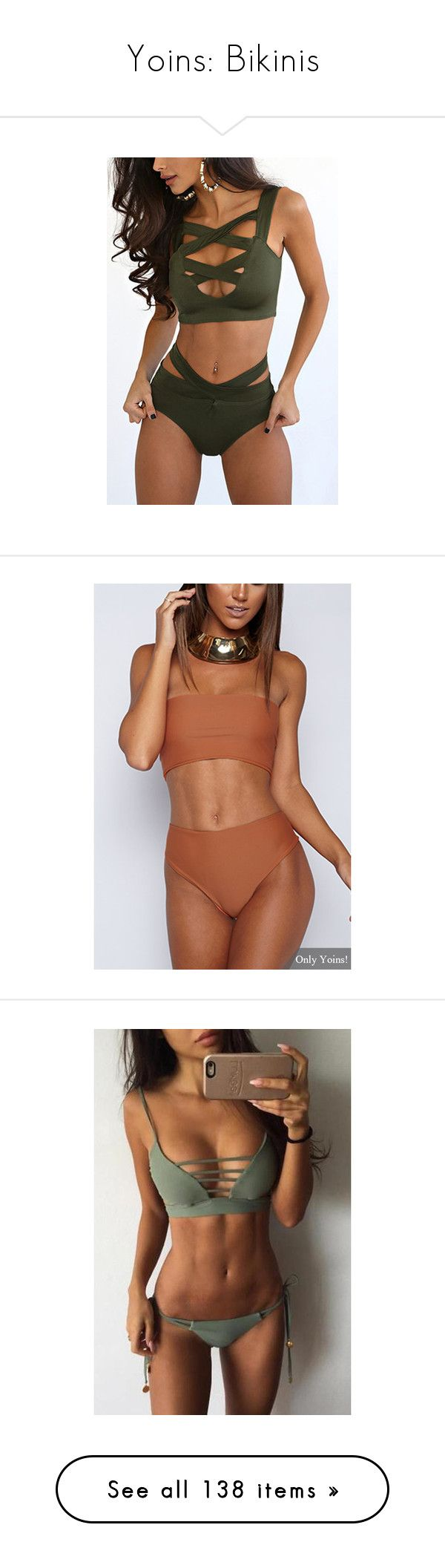 """Yoins: Bikinis"" by yoinscollection ❤ liked on Polyvore featuring swimwear, bikinis, crop bikini, bikini two piece, bikini swimwear, bikini swim wear, beach wear, orange, swim wear and sexy swim wear"