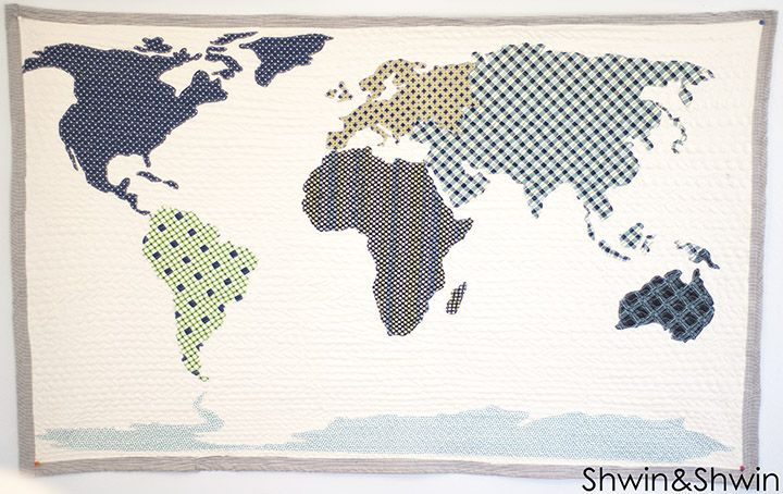 "I'm dying from the cute! This is going on the ""must make"" list! Shwin&Shwin: World Map Quilt 