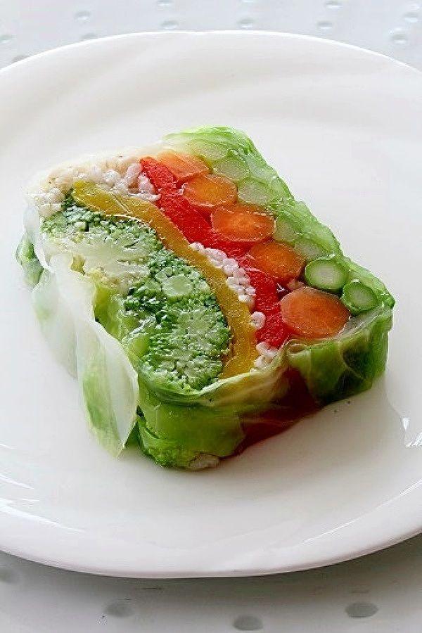 はだか麦と彩り野菜のテリーヌサラダ by 梶川 愛 | レシピサイト ...