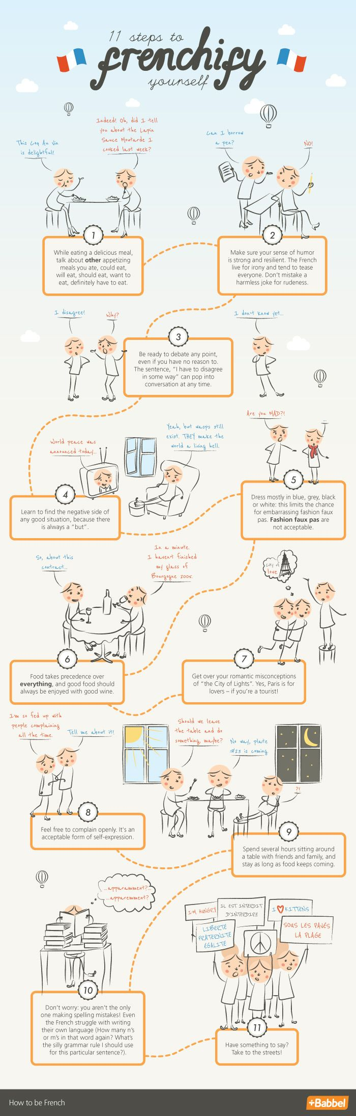 What does it really mean to be French? More romantic, sophisticated and cool? Forget all the stereotypes, and follow these 11 steps to Frenchify yourself!