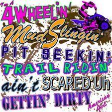 4 WHEELER ATV T-SHIRT NOVELTY SASSY DIXIE REBEL SOUTHERN TEE REDNECK MUDDEN NEW