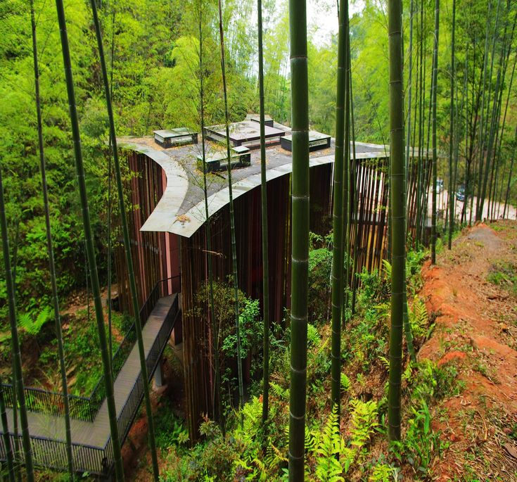 Completed in 2008 in Zunyi, China. Images by West-line studio. The Zhuhai National Park is located in the region of Chishui, in Guizhou province, in South-West China. The 10,000 hectares park is characterized by...